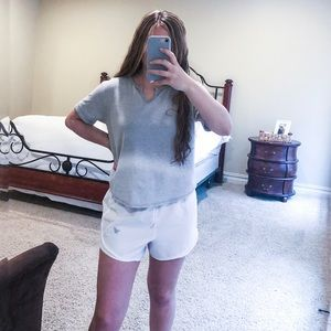 white Varsity spirit shorts size small